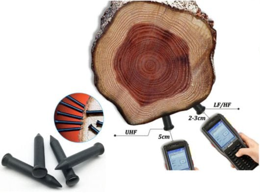 RFID (Radio-Frequency Identification) tags for Wood Identification